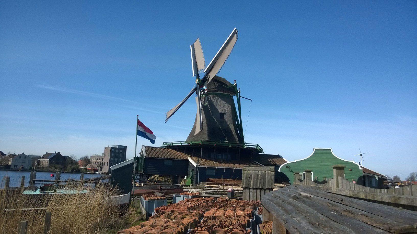 Windmill in Zaanse Shans