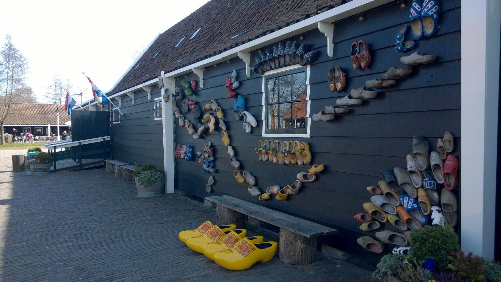 Building decorated with clogs in Zaanse Schans