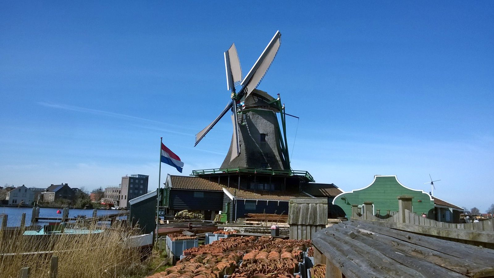 visiting a windmill in Amsterdam