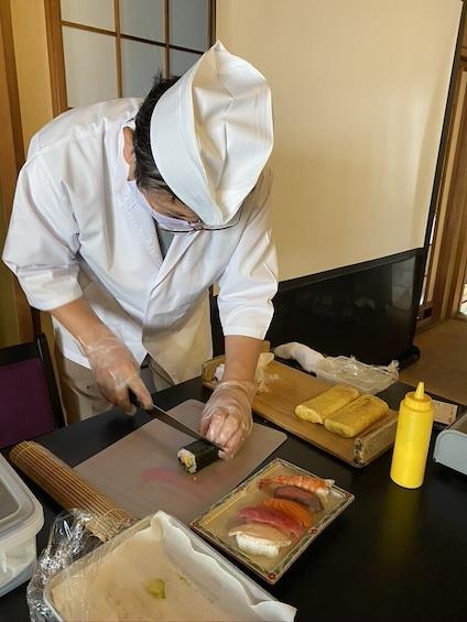 Make Sushi & Dashimaki (Japanese Omelet) at Sasebo, Nagasaki
