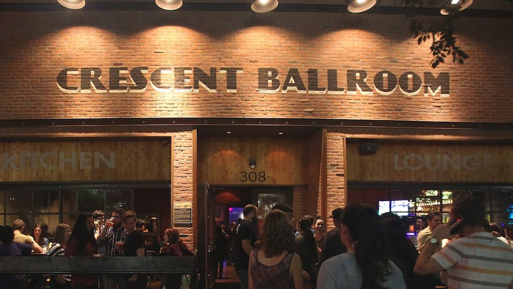 Show item 1 of 5. Exterior view of Crescent Ballroom at night.