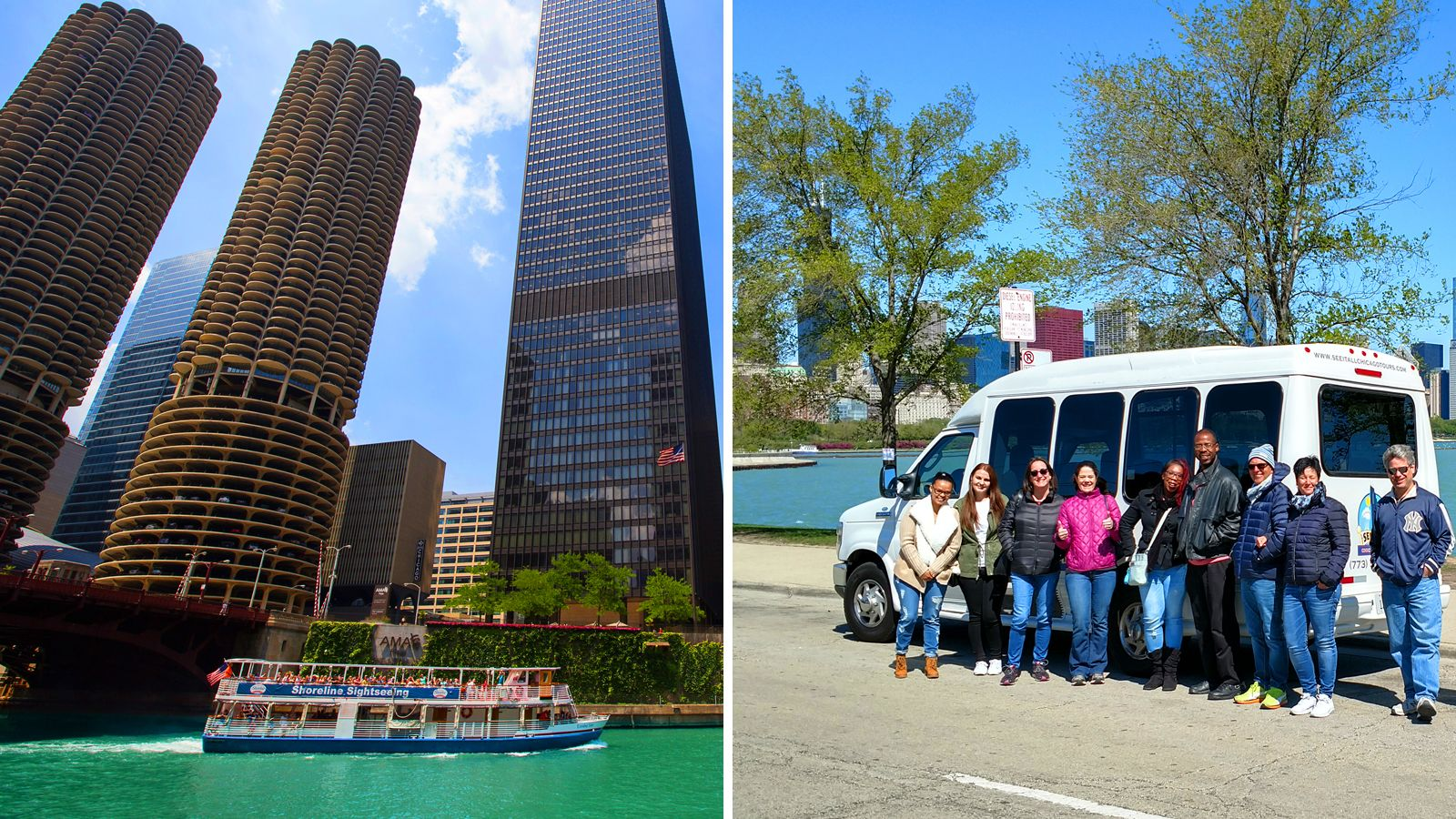 Visita en minibús turístico con crucero fluvial por la arquitectura de Chic...