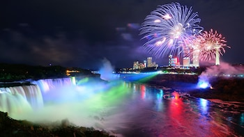 Niagara Falls Canada Day & Night Tour with 3-Course Dinner