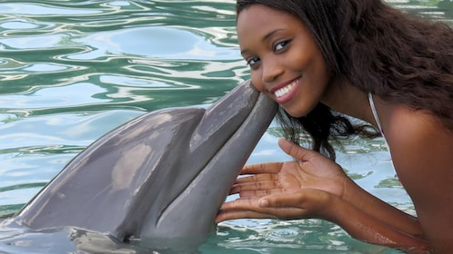 Woman on the Dolphin Encounter in Ocho Rios, Jamaica
