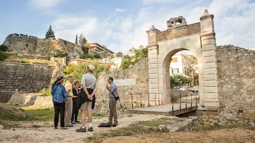 Group enjoying the scenic city tour of Peloponnese, Greece
