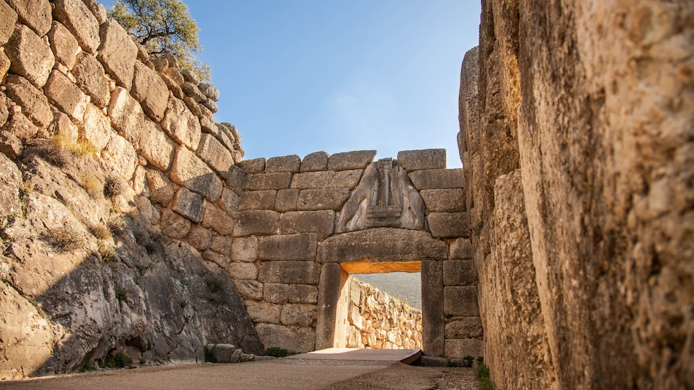 Show item 1 of 9. Archaeological site of Mycenae Lion Gate