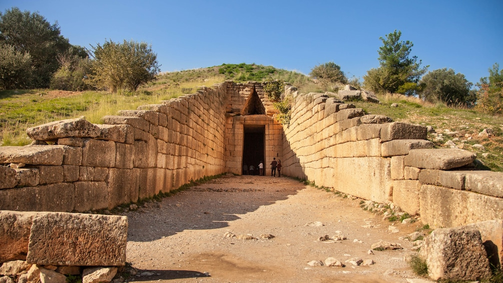 Show item 3 of 9. Mycenae treasure tomb of Atreus