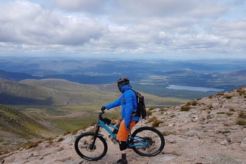 Riding some of the best mountain terrain in Britain