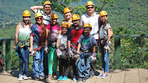 Group on the Apaneca Canopy tour in El Salvador, Central America
