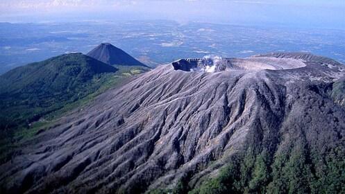 Day view of the Ilamatepec Volcano in El Salvador, Central America