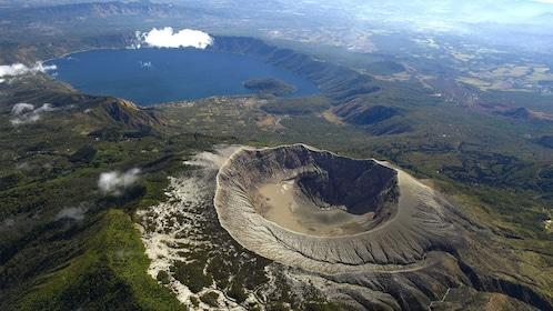 Aerial view of the Ilamatepec Volcano in El Salvador, Central America