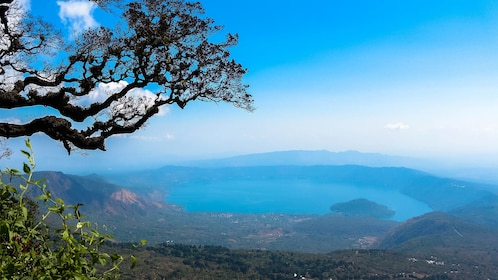 Beautiful blue landscape views on the Ilamatepec Volcano Hiking Tour in El Salvador, Central America