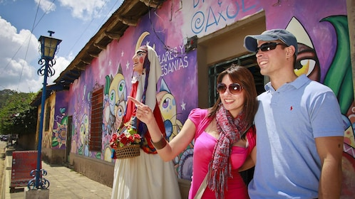 Couple enjoying the Flowers Route Adventure Tour in El Salvador, Central America