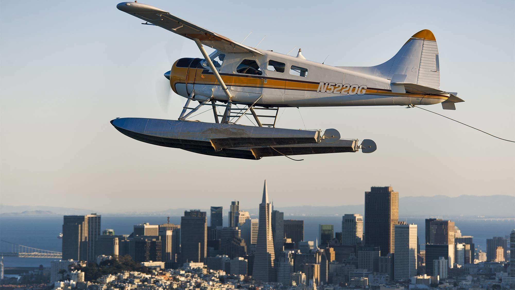 Seaplane Flight Over the Bay & Alcatraz Island Tour via Ferry