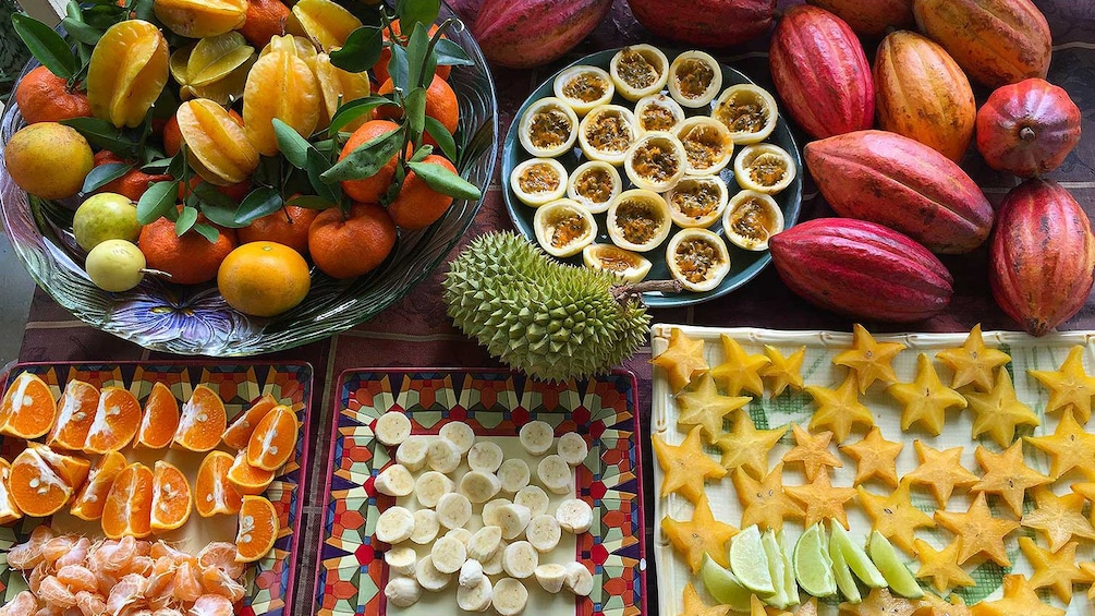 spread of fruits to enjoy