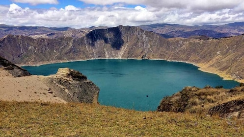 visiting a lagoon in Quito