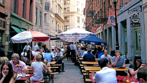 dining area outside on the street in New York