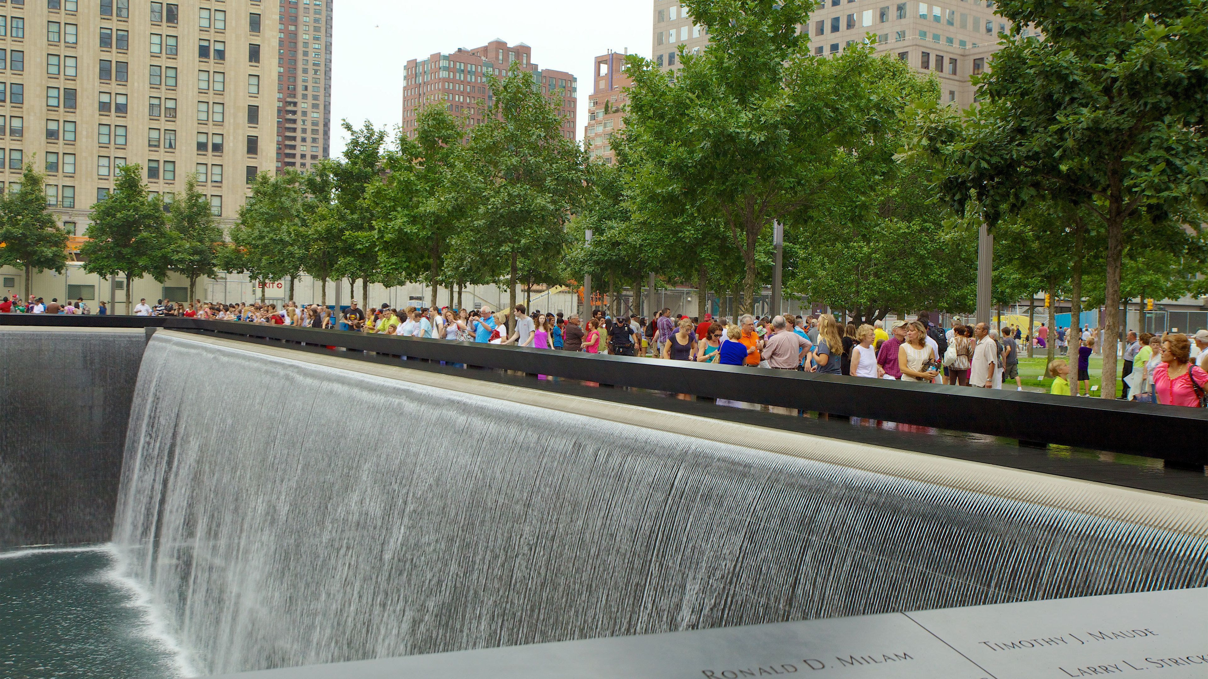 Fountain at the 9/11 Memorial in New York