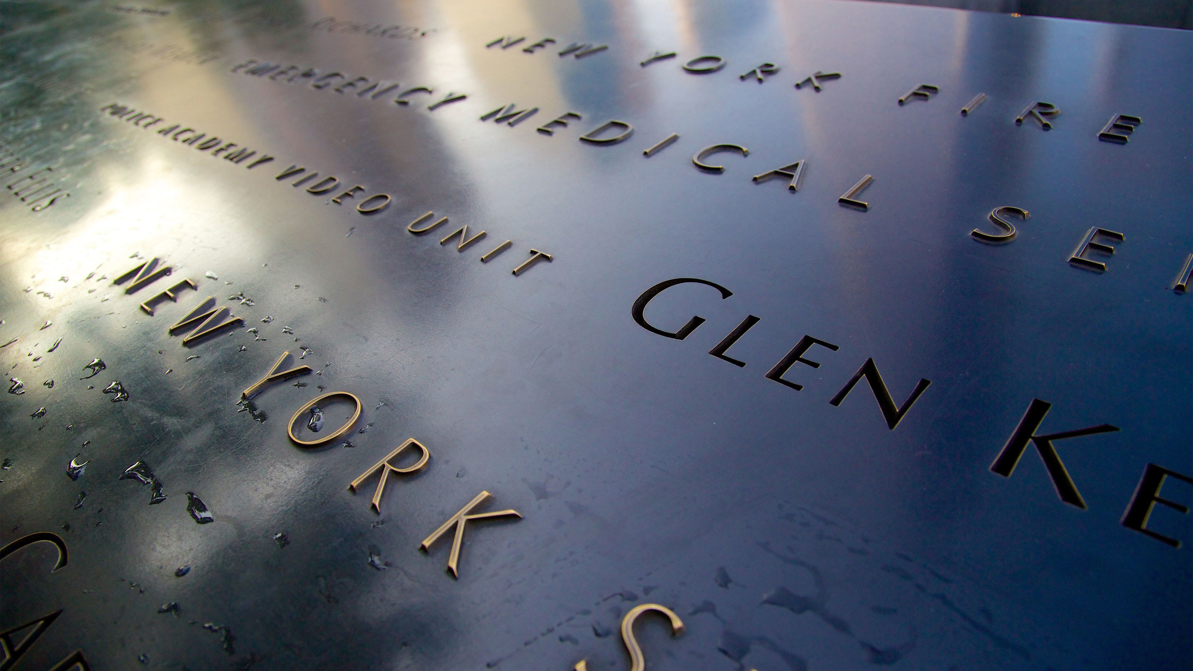 Names engraved at the 9/11 Memorial in New York