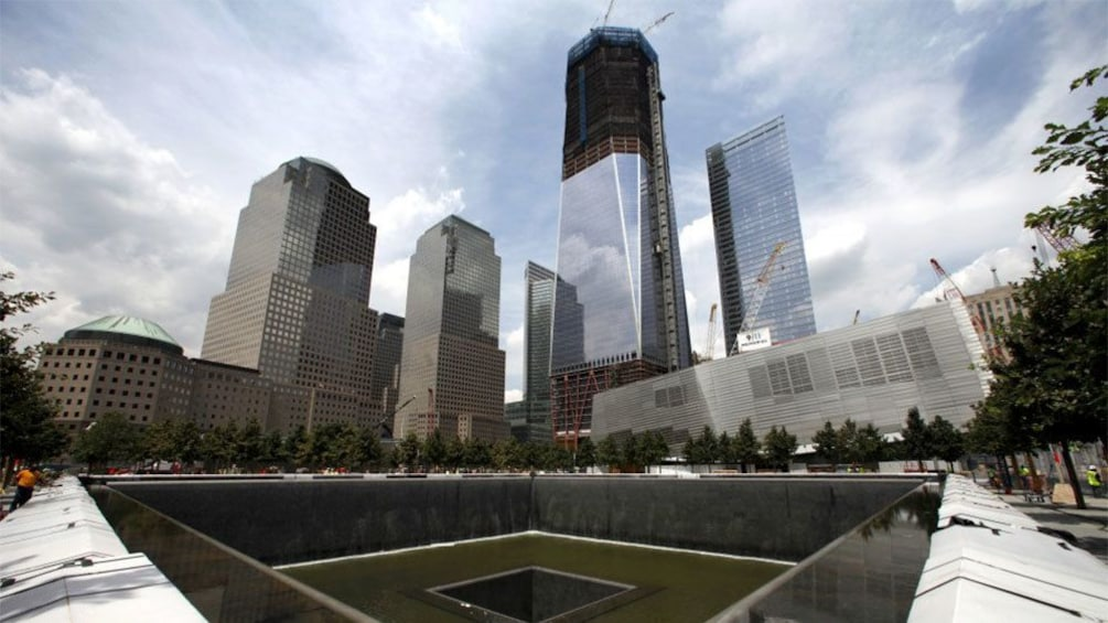 Show item 1 of 5. Fountain memorial at One World Trade Center in New York