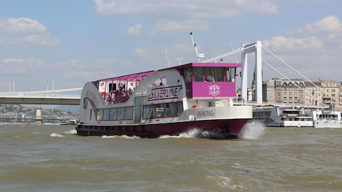 Sightseeing cruise boat in Budapest