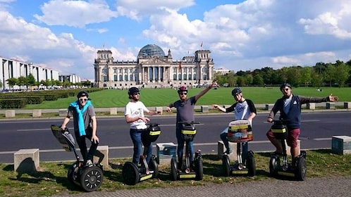 Segway tour poses in front of Reichstag