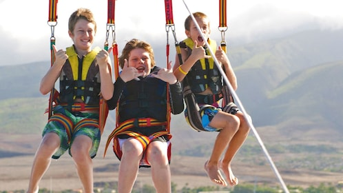Group on the parasailing adventure in Maui