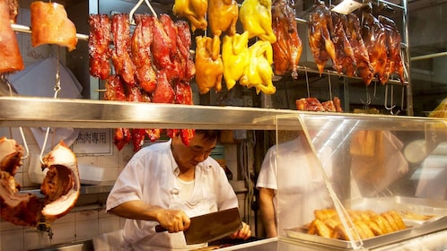BBQ foods on the Central and Sheung Wan Foodie Tour in Hong Kong
