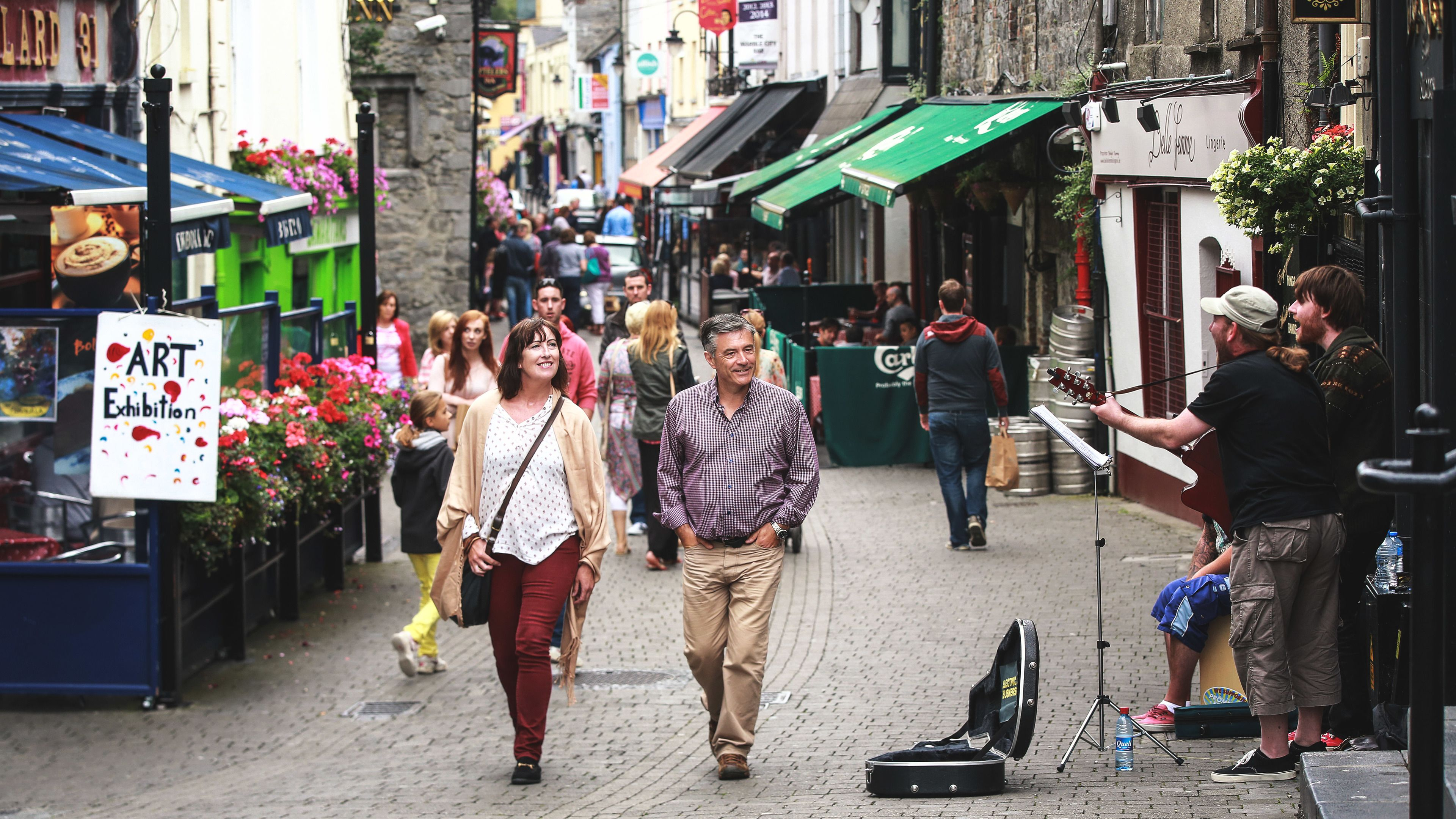 cobbled streets of the city of Kilkenny