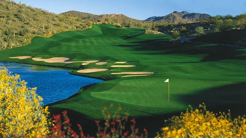 Beautiful landscape view of golf course.