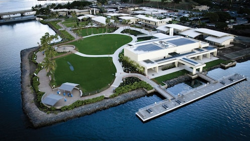 Pearl Harbor Visitor Center captured in an aerial view