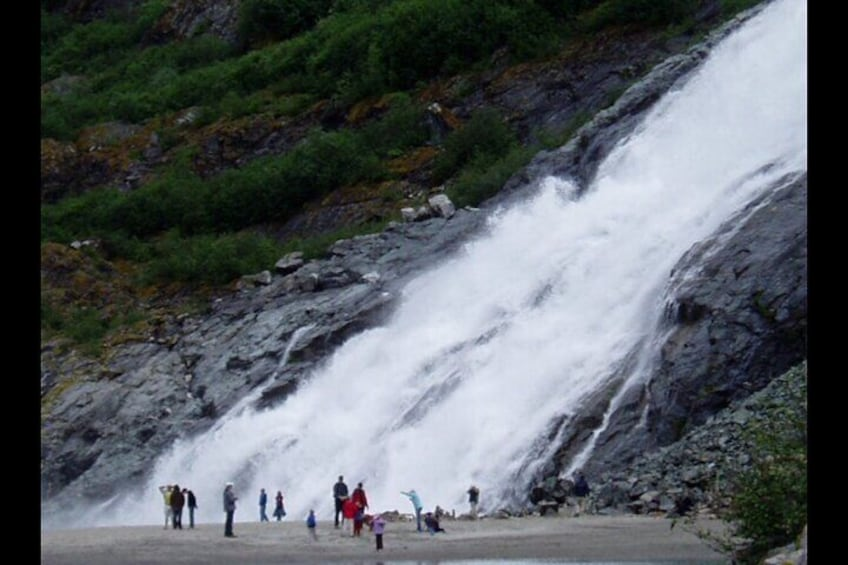 Be sure to visit Nugget Falls. It is so close to the face of the glacier and just a 15-20 minute hike on a groomed trail.