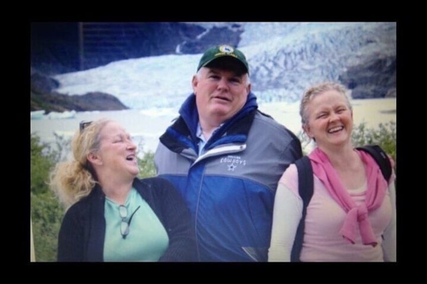"""In Loving Memory of my late husband and Co-Owner of M&M Tours of Juneau, """"Big Mike""""."""