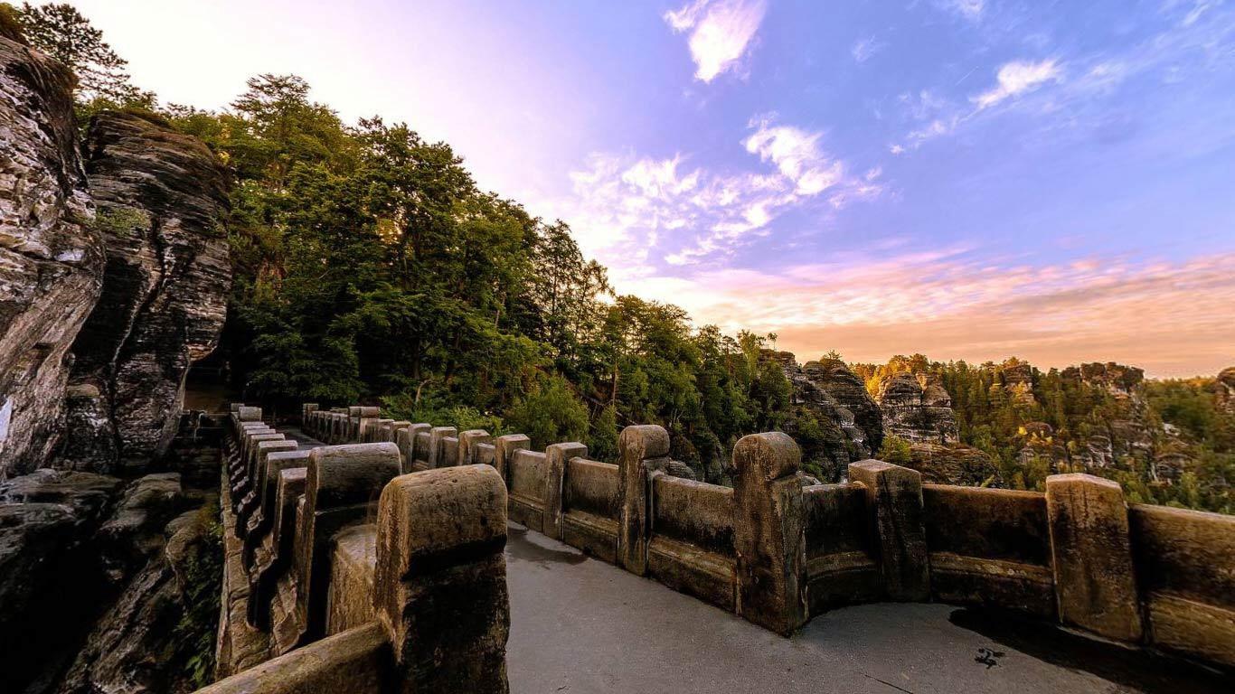 bridge and twilight view