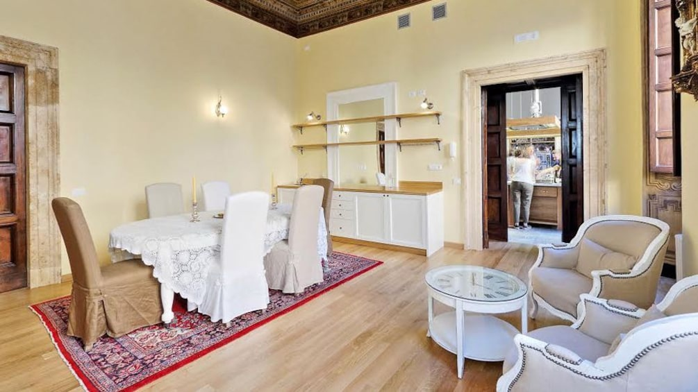 Living room in Rome