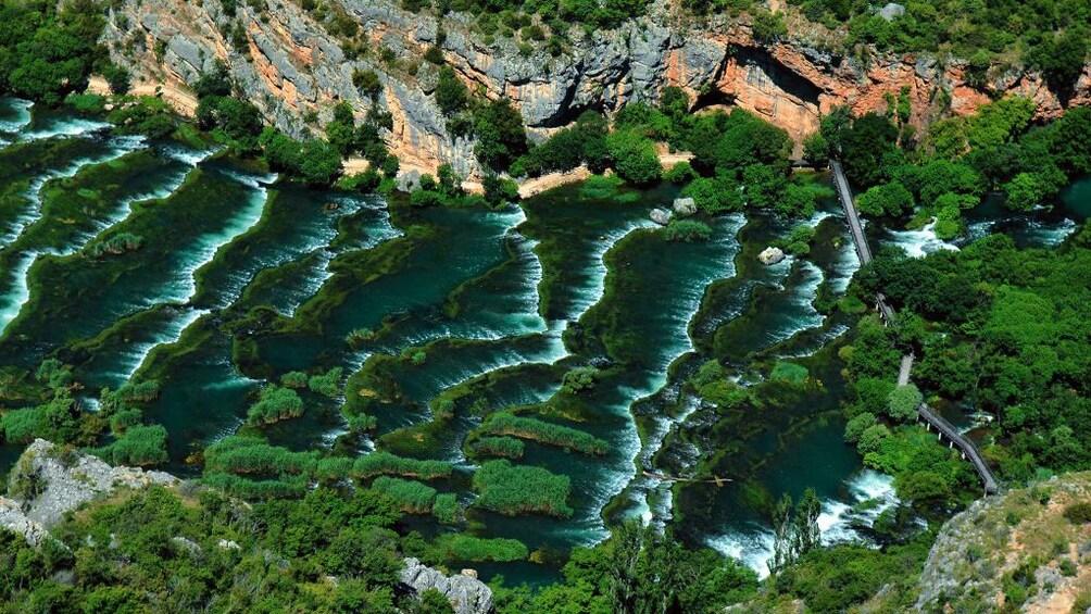 Show item 2 of 8. Aerial view of Krka Waterfalls