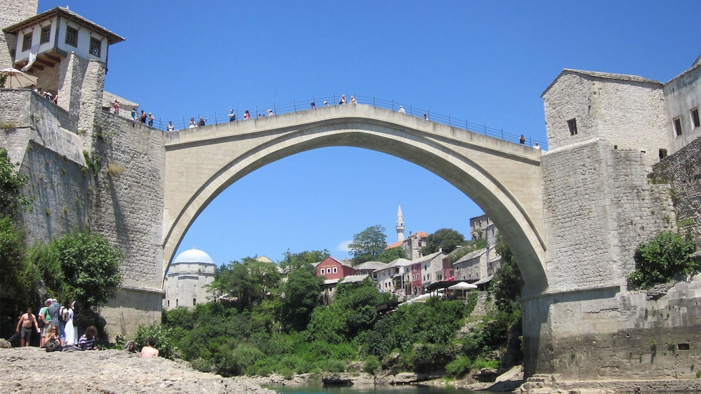 Show item 3 of 8. Close up of the Stari Most Arch bridge in Mostar, Bosnia and Herzegovina