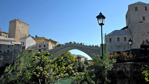 Day view of the Stari Most Arch bridge in Mostar, Bosnia and Herzegovina
