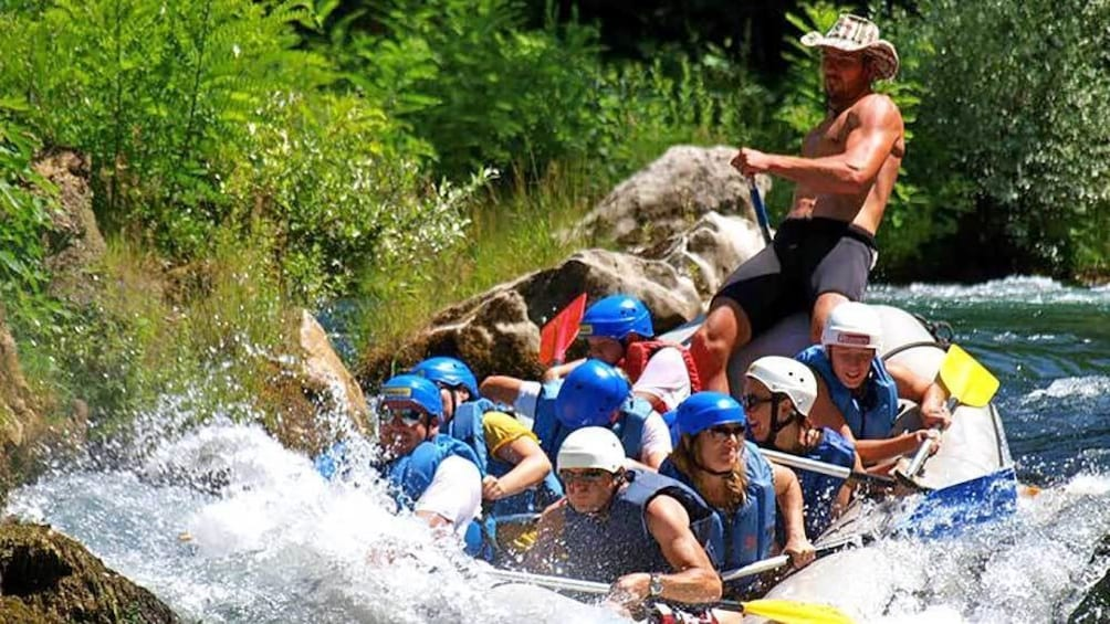 Show item 3 of 8. rafters caught in the rapids in Croatia