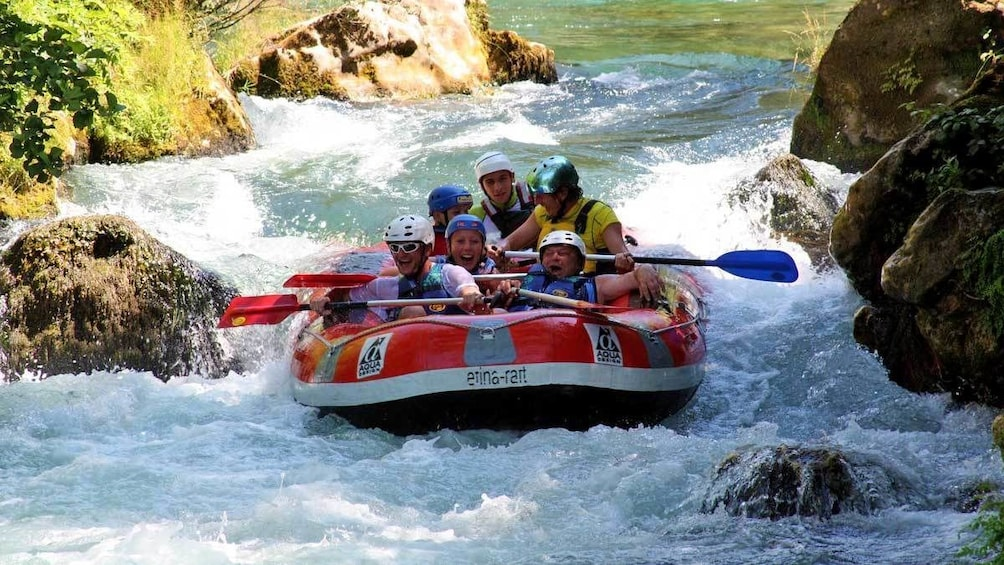 Show item 1 of 8. group going white water rafting in Croatia