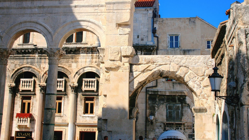 Show item 6 of 6. Close up view of historic buildings in Split.