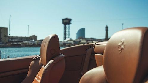 Headrests in Ferrari in Barcelona