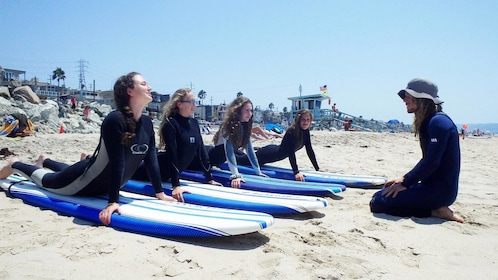 Group surf lesson in Los Angeles, CA