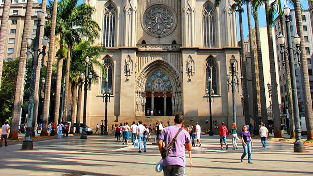 Show item 5 of 5. outside of a cathedral in Brazil