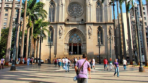 outside of a cathedral in Brazil