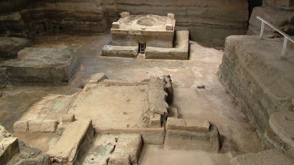 Show item 2 of 5. Exhibit of Mayan ruins