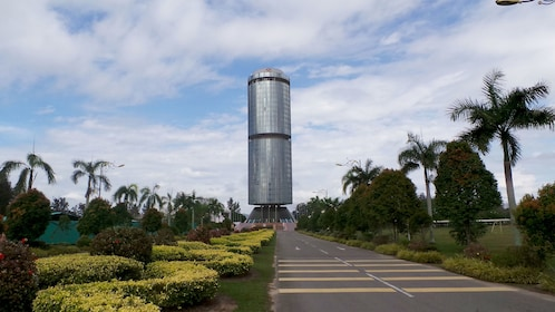 Circular glass Tun Mustapha Tower in Sabah