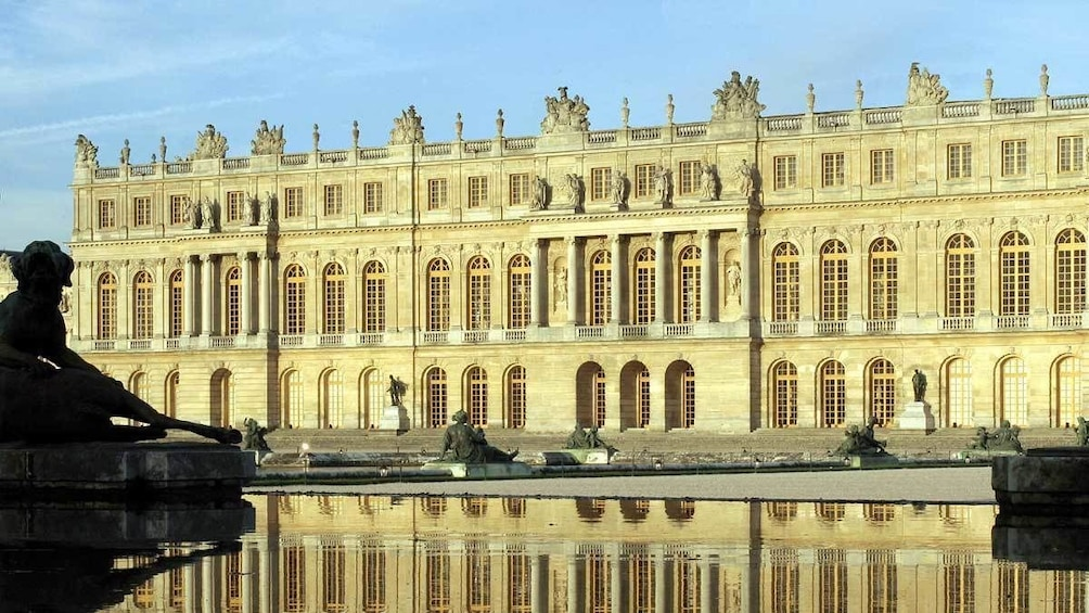Show item 2 of 8. historic building reflecting off of the outdoor pond in Paris
