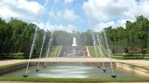 water fountains at Versailles in Paris