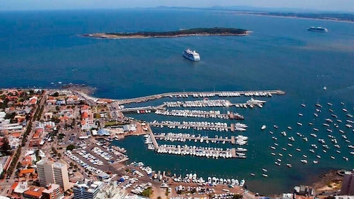 Beautiful aerial view on the Punta del Este City Tour in Montevideo, Uruguay
